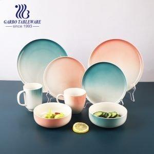 Conjunto de jantar de porcelana de alta qualidade com mudança gradual de cor