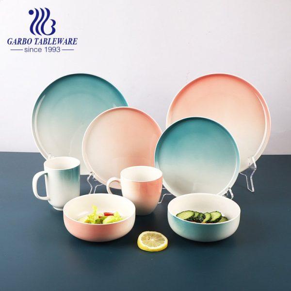 conjunto de jantar de porcelana com cor