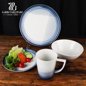 Novo design mudando gradualmente a cor do conjunto de jantar envidraçado