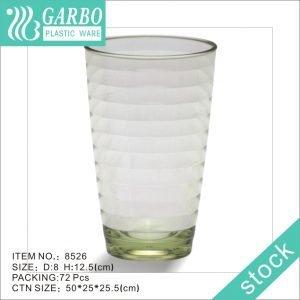 Vaso de vaso de jugo de plástico de policarbonato de color verde 360ml