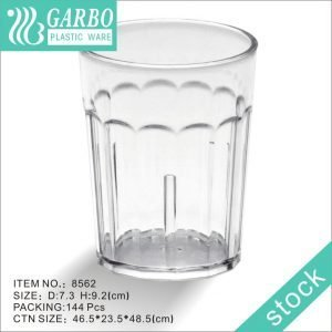 Transparent unbreakable 9oz water juice drinking polycarbonate glass cup