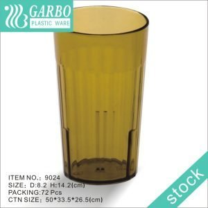 Promotion stackable FDA 16OZ brown polycarbonate beer tasteing glass cup