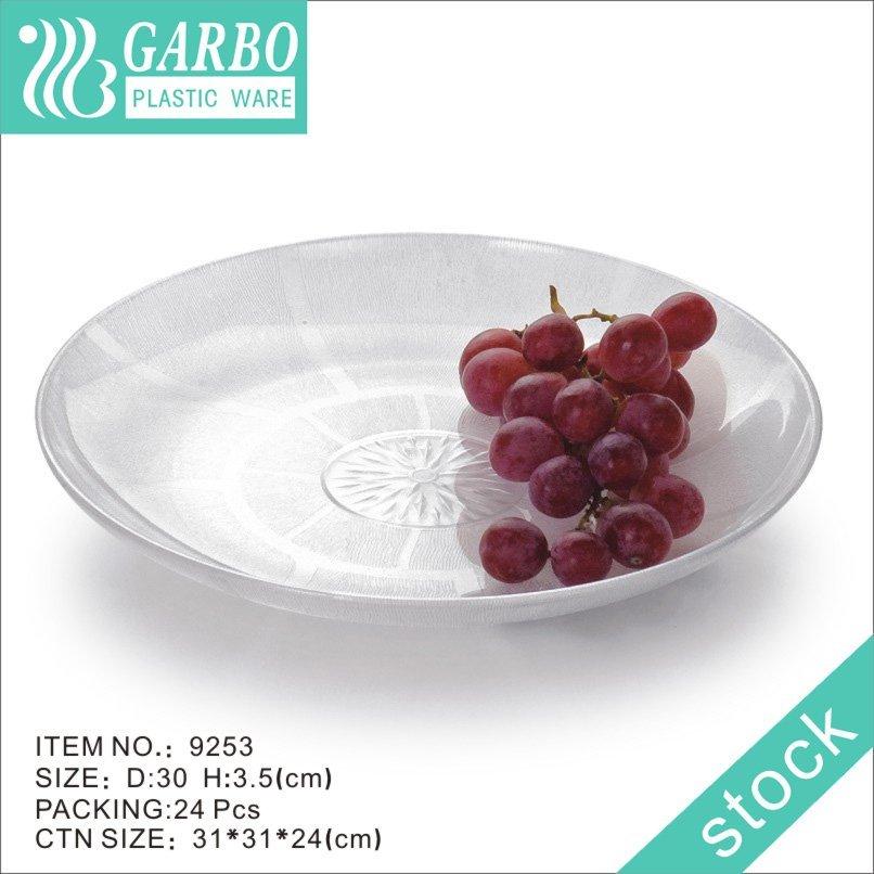 Plastic serving platter
