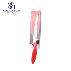 China Wholesale Utensílios de cozinha 420 Faca de aço inoxidável colorido logotipo personalizado de uso doméstico Faca cortadora com mão PP
