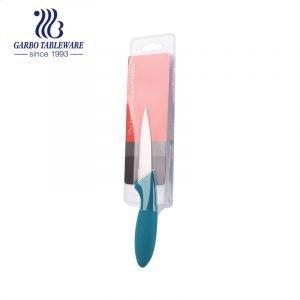 Faca prática de aço inoxidável de 3.5 polegadas para uso em cozinha com logotipo personalizado faca de aparar cor de mão