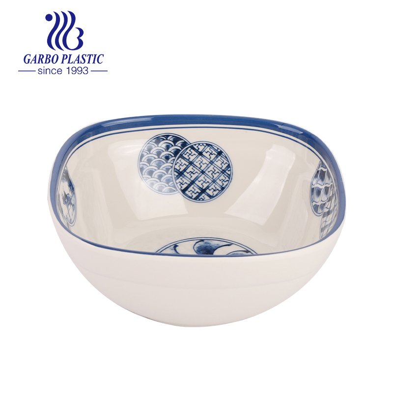 plastic acrylic salad fruit bowl in square shape with wholesale price