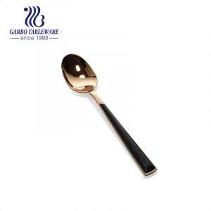 Colher talheres de aço inoxidável banhado a ouro de venda quente 430 para hotel e restaurante
