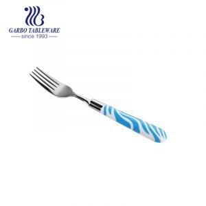 طقم أدوات مائدة 210 SS شوكات مائدة طعام مع مقبض بلاستيكي ABS مطبوع