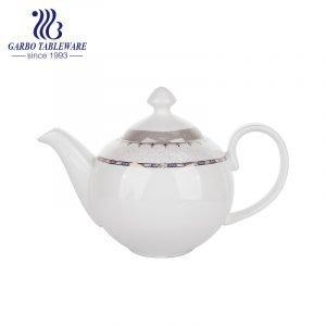 إبريق شاي جديد من العظام الصينية مع غطاء أواني طعام مخصصة للمطعم