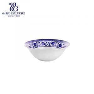 Tigela de cerâmica subvitrificada barata de 360ml com decalque interno para uso diário