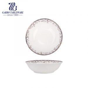 Tigela de porcelana de osso nova de 320ml com decoração personalizável para atacado