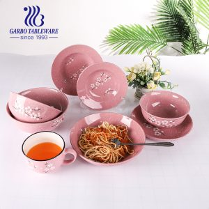 Wholesale hand-painted rice cereal bowl with wintersweet design