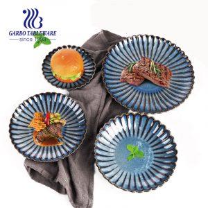 Sistema de cena esmaltado color de alta calidad de la placa del cuenco de la porcelana
