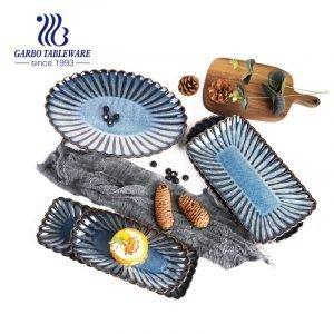 Servicio de mesa esmaltado color de alta calidad de la placa de la porcelana del color del diseño de la margarita de 9.2 pulgadas