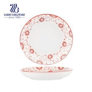 Plato de cena de porcelana fina de 8 pulgadas