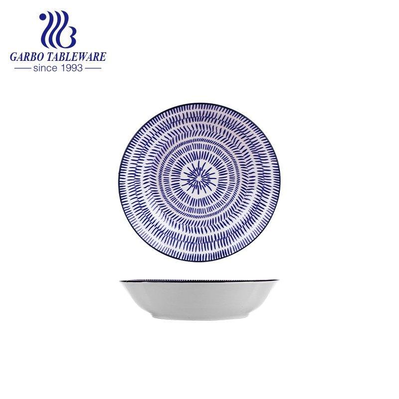 8inch flat ceramic dessert plate
