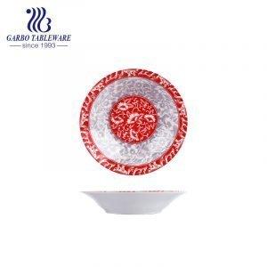 Design personalizado chique sob decoração vidrada prato de grés porcelânico de 8 polegadas prato plano de sobremesa de cerâmica