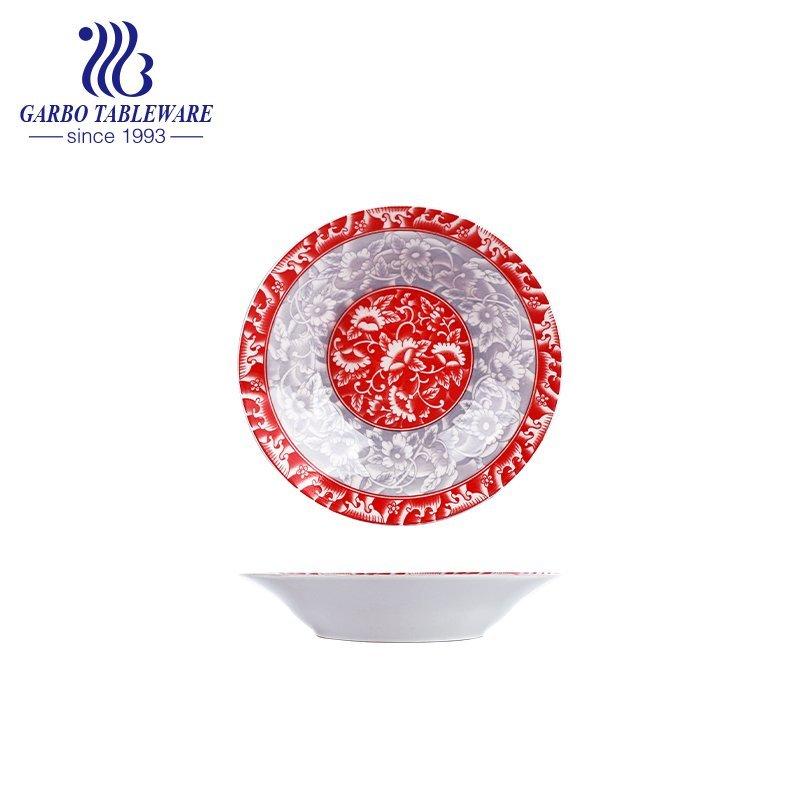 flat ceramic dessert dish