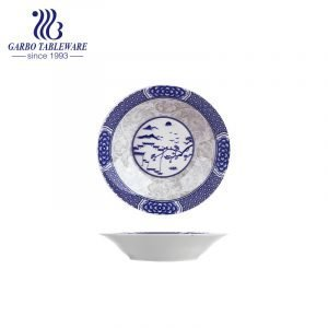 OEM ecologicamente correto por atacado sob design envidraçado prato redondo plano barato prato de cerâmica fina de 8 polegadas