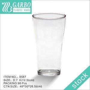 Vaso alto de vidrio transparente de policarbonato para beber cerveza 300ml