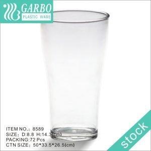 21oz / 590ml vaso de cerveza de policarbonato duradero transparente para restaurante al por mayor