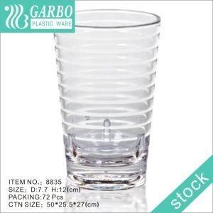 Círculo diseño diario beber policarbonato taza de vidrio de 11 oz transparente