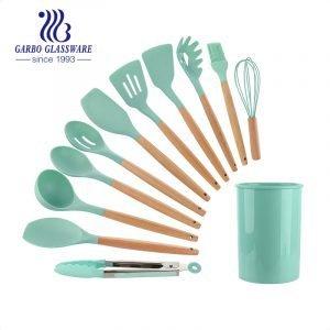 طقم أواني مطبخ للطبخ 12 قطعة من النايلون لأدوات الطهي غير اللاصقة Skyle Blue اللون