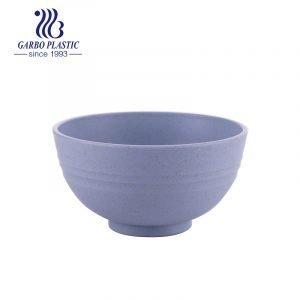 Tazón de arroz de plástico de paja de trigo saludable púrpura redondo clásico de 4.5 pulgadas con precio barato de fábrica