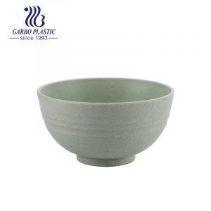 Cuenco irrompible plástico material ecológico verde de la hierba del diseño redondo clásico para la ensalada de los noddles