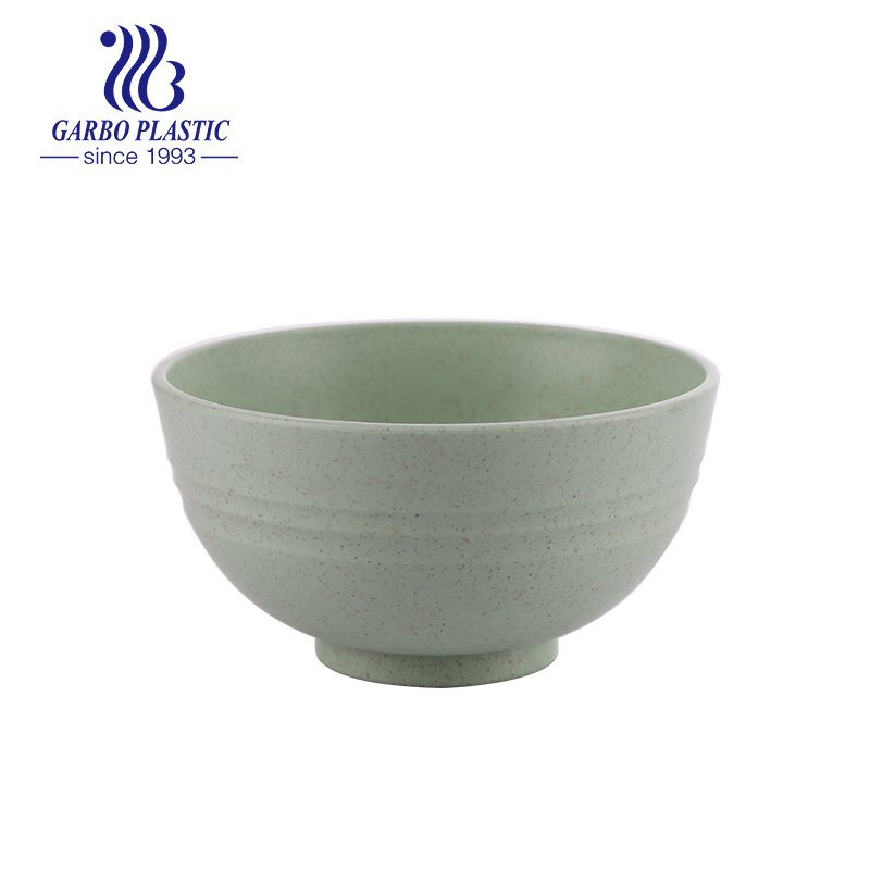 grass green eco-friendly material plastic unbreakable bowl for noddles salad