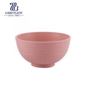 4.5-дюймовая круглая классическая небьющаяся экологически чистая пластиковая миска для хлопьев розового сладкого салата