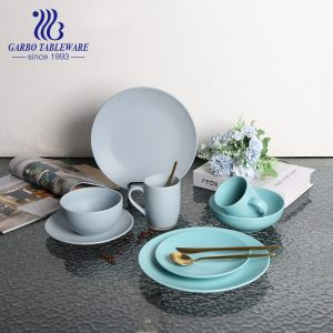 Wholesale sky blue color-glazed ceramic bowl for noodles