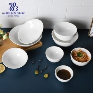 Wholesale 680ml popular hotel porcelain bowl for restaurant and canteen