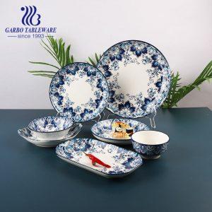Hotsale 820ml porcelain bowl with underglazed color pattern for noodles