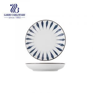 Aduana clásica al por mayor debajo del plato esmaltado del postre de la porcelana de la placa de la porción del arroz de la decoración 7inch