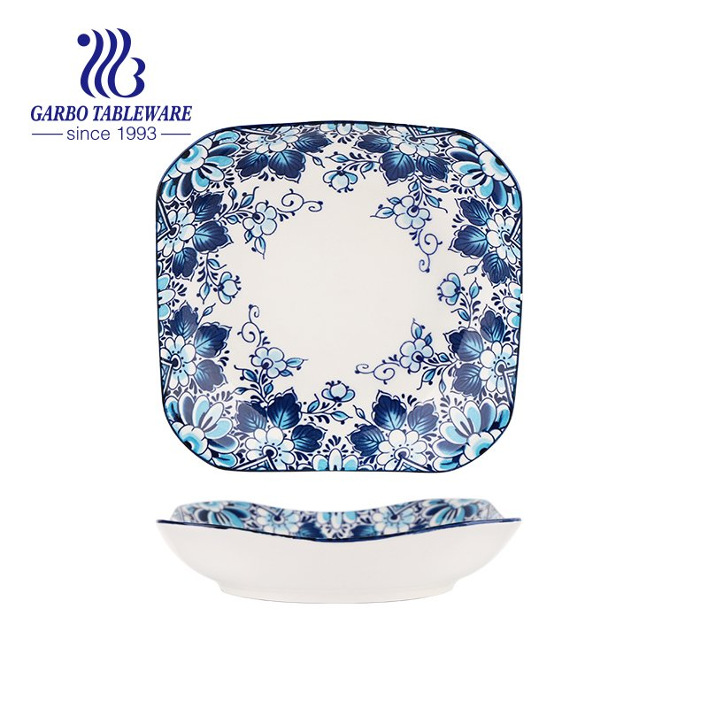 8.5inch square porcelain dish