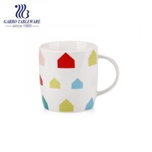 Porcelain print colorful drinking mug ceramic coffee mugs stoneware good quality cold drinks juice cup with handle new bone china cups