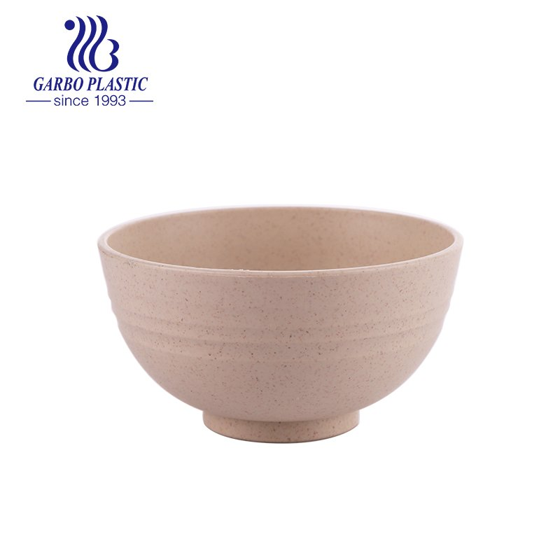 plastic light butter brown customized bowl for rice noddles