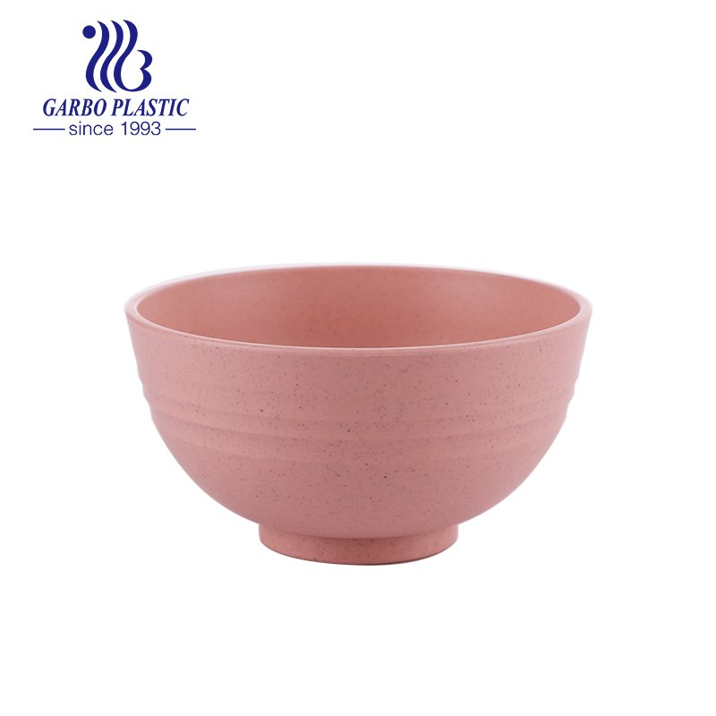 unbreakable eco-friendly healthy plastic cereal pink sweet salad bowl