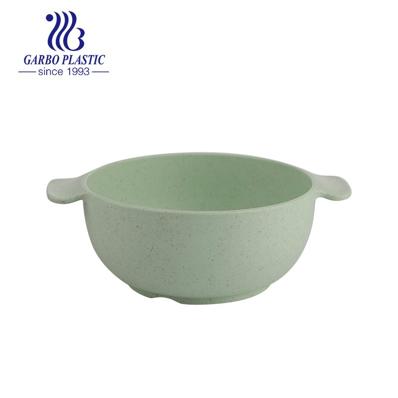 plastic cereal fruit salad bowl with ear handle