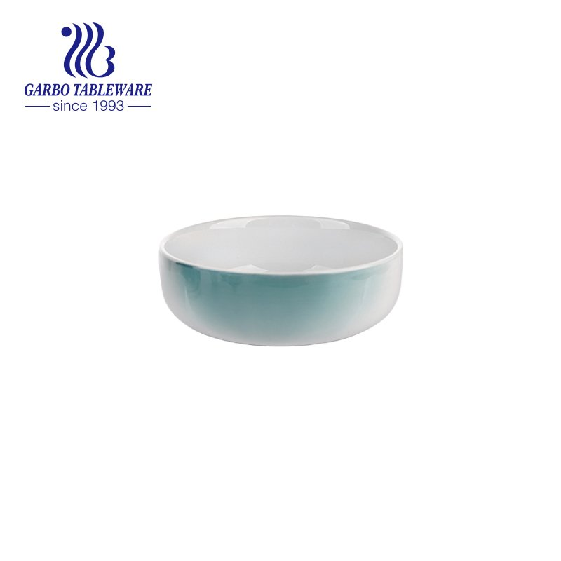 ceramic bowl with graduated color
