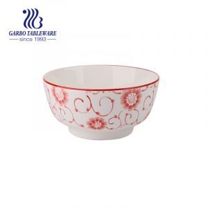 ceramic bowl with underglazed decal