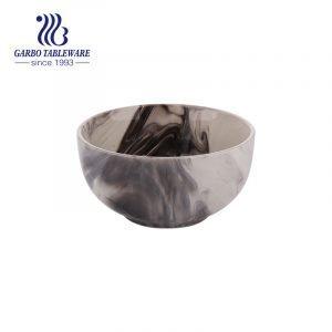Глазурованная чаша из керамической керамики объемом 600 мл с разбрызганными чернилами в ландшафтном стиле