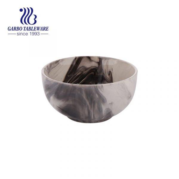 stoneware bowl with splashed style