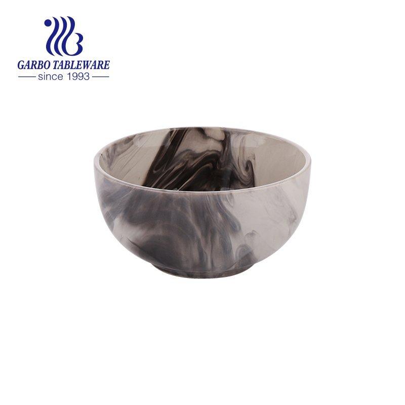 ceramic bowl with splashed ink landscape style