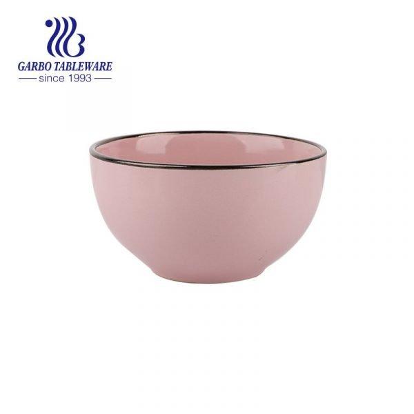 Pink rice bowl
