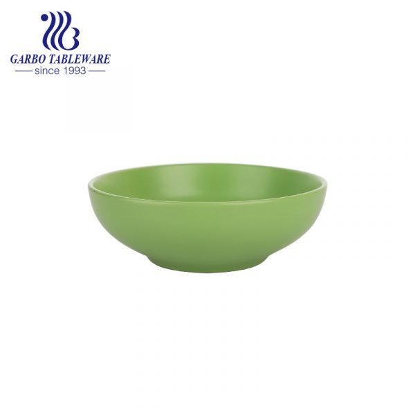 green widemonthed bowl