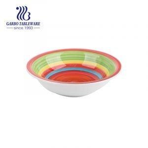 Серия керамической посуды 600 мл с внутренним рисунком, расписанным вручную, для оптовой продажи