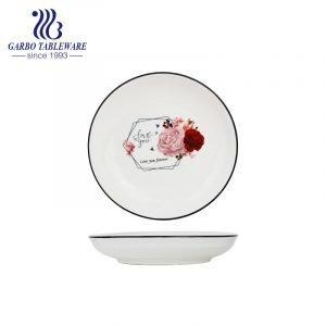 Уникальный индивидуальный заказ под застекленным цветком, печатная пластина, 7-дюймовая круглая фарфоровая десертная тарелка