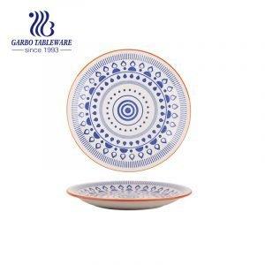 Китайская фабрика дешевые уникальный индивидуальный дизайн ручная роспись керамическая тарелка 7 дюймов керамическая десертная тарелка